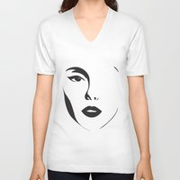 shadow V-neck T-shirts featuring Shadow by enluminat