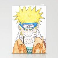 naruto Stationery Cards featuring Naruto Uzumaki by rosalia