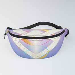 Linked Lilac Diamonds :: Floating Geometry Fanny Pack