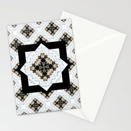 diamond cross pattern with borders Stationery Cards