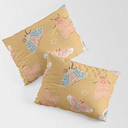 Moths Pattern - Pastels - Yellow Pillow Sham