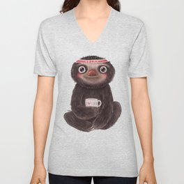Sloth I♥yoga Unisex V-Neck