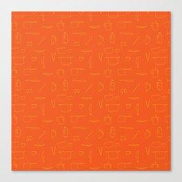 Saturday Morning Kitchen - Orange Juice Color Canvas Print