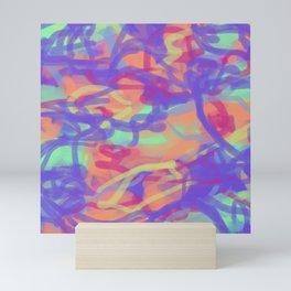 Pastel Rainbow Abstract Mini Art Print