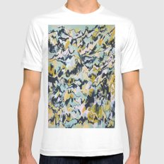 Alien Landscape #1 SMALL Mens Fitted Tee White