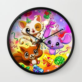 Kawaii Party Wall Clock
