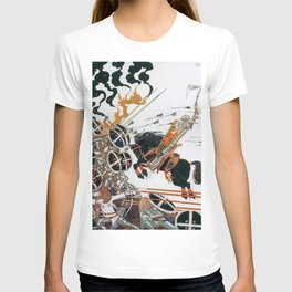 Kay Nielsen - Young People And Black Horses Participating In The War From The Neighboring Country T-shirt