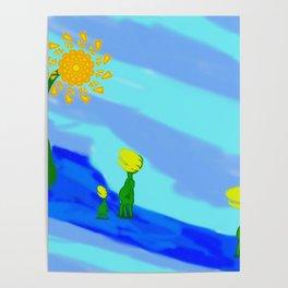 Little Plant Folk Poster