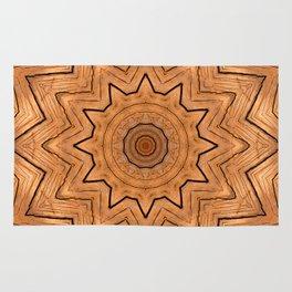 Wood Kaleidoscope c Rug