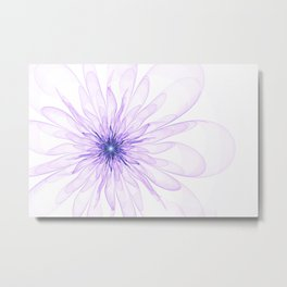 flower on a white background with transparent petals Metal Print