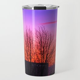 Concept landscape : city sunset Travel Mug