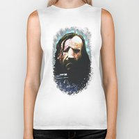 the hound Biker Tanks featuring THE HOUND by Chewgowski