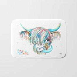 Highland Cattle full of colour Bath Mat