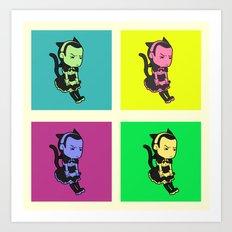 Cat-Maid Loki Pop Art Print