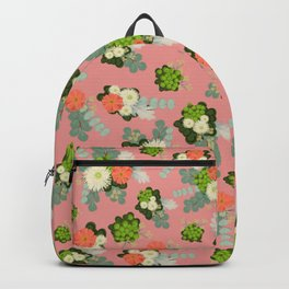 Rustic flowers in pink Backpack