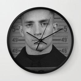 Jack Kerouac Naval Enlistment Mug Shot Wall Clock