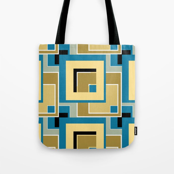 Olive and blue color in abstract painting . Tote Bag