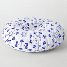 blue morrocan dream no2 Floor Pillow