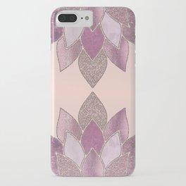 Elegant Glamorous Pink Rose Gold Lotus Flower iPhone Case