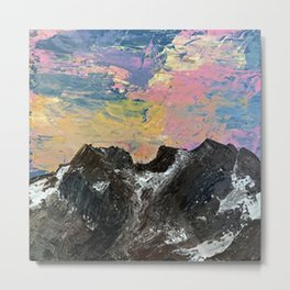 Arapahoe National Forest [3]: a colorful abstract mixed media mountain range Metal Print