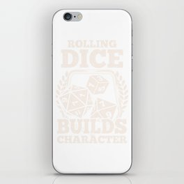 Role Playing Dungeons Tabletop Gaming Rolling Dice RPG D20 Print iPhone Skin