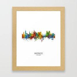 Inverness Scotland Skyline Framed Art Print