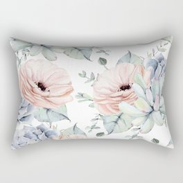 Pretty Succulents by Nature Magick Rectangular Pillow