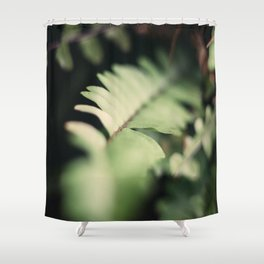 Blurred Close Up Of Fern Leaf Shower Curtain