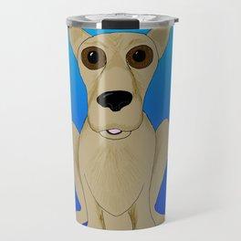 Basic Brown Dog Travel Mug