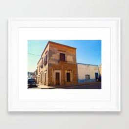 House in sepia Framed Art Print