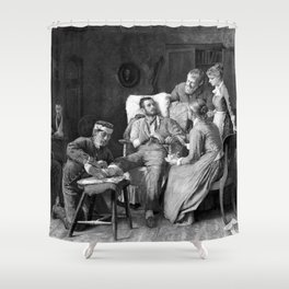 Wounded Civil War Soldier Shower Curtain
