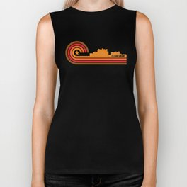 Retro Clarksburg West Virginia Skyline Biker Tank
