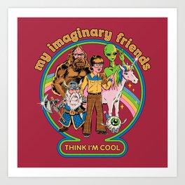 My Imaginary Friends Art Print