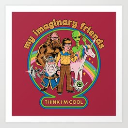 My Imaginary Friends Art Print