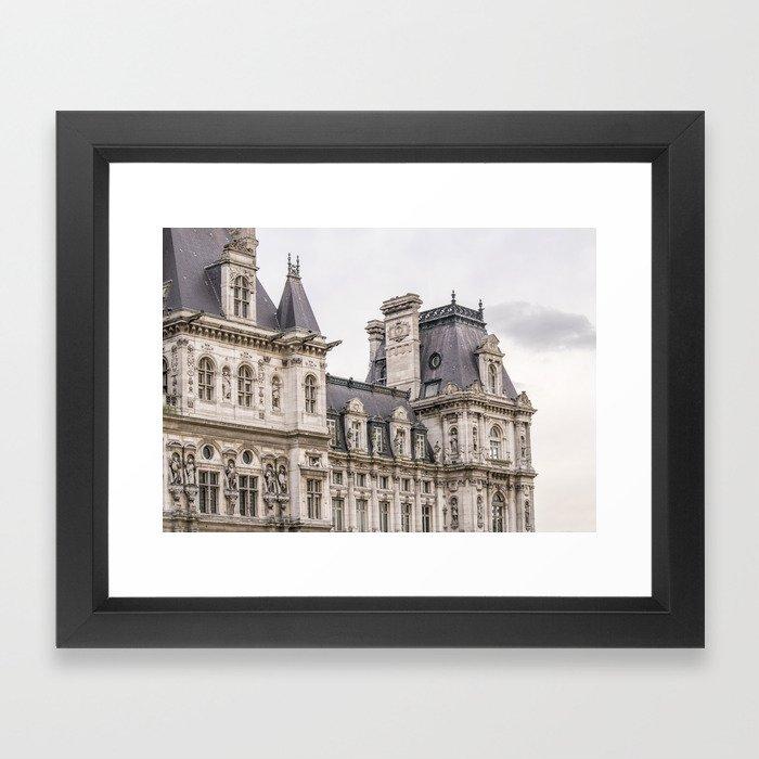 Paris Hotel de Ville Framed Art Print