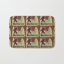 Bigfoot Believe Bath Mat