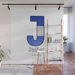 Juliet - Navy Code Wall Mural