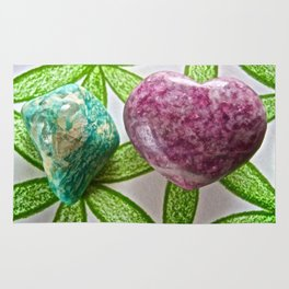 Amazonite and Lepidolite Vibrations - The Peace Collection Rug