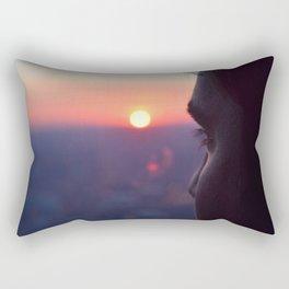 Sunset on Chicago Rectangular Pillow