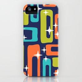 Retro Mid Century Modern Abstract Pattern 631 iPhone Case