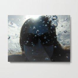 Underwater Portrait Metal Print