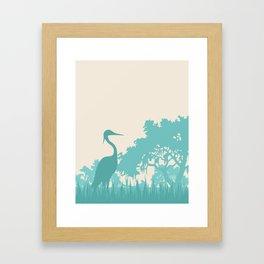 Crane in the Swamp Framed Art Print