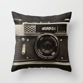 FED 5   Vintage Camera Throw Pillow
