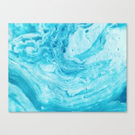Aqua Abstract Watercolor Canvas Print