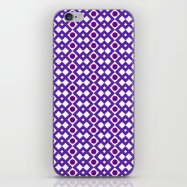 Geometric Design - Purple White and Magenta  - Diamonds Circles Squares iPhone Skin