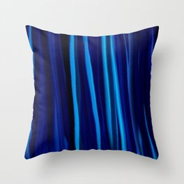 Stripes  - Ocean blues and black Throw Pillow