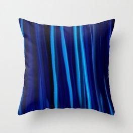 Stripes  - Ocean blues and black Throw Pillow