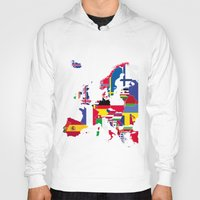 europe Hoodies featuring Europe flags by SebinLondon