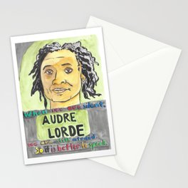 Audre Lorde - Badass Woman Portrait Stationery Cards