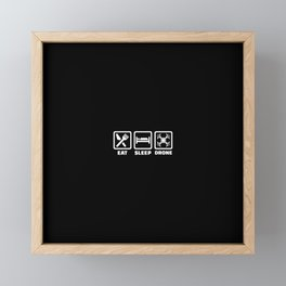 Eat sleep Drone Framed Mini Art Print